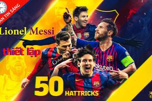 Messi ghi 50 hat-trick, Đặng Văn Lâm lần đầu 'thủng lưới'