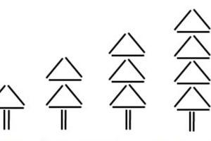 Cần bao nhiêu que xếp thành cây theo yêu cầu?