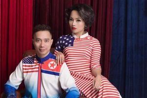 Diện áo dài cờ Mỹ - Triều: Thái Thùy Linh – Đỗ Trịnh Hoài Nam trở thành 'cặp đôi' mới