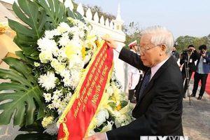 Hình ảnh về các hoạt động của Tổng Bí thư, Chủ tịch nước tại Lào