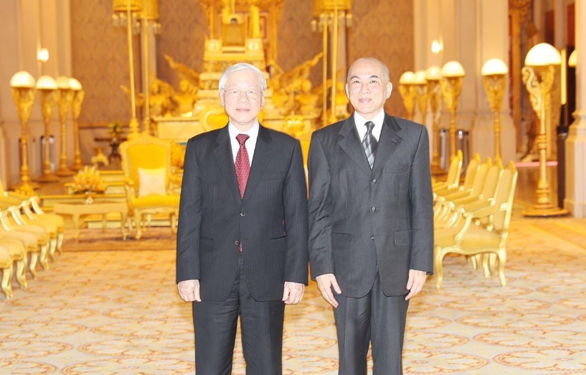 Tổng Bí thư, Chủ tịch nước hội đàm với Quốc vương Campuchia
