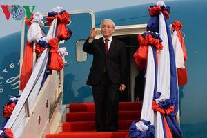 Hình ảnh ngày đầu thăm Lào của Tổng Bí thư, Chủ tịch nước