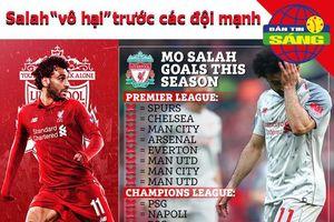 Ghi 17 bàn, Salah vẫn 'vô hại' trước các đối thủ mạnh