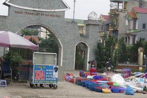 Công an huyện Thường Tín xử lý chợ cóc 'quây' nghĩa trang
