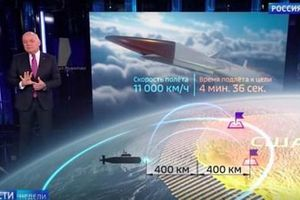 Truyền hình Nga: Tên lửa siêu âm mới có khả năng diệt mục tiêu trên đất Mỹ chưa đầy 5 phút