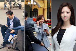 Loạt phóng viên trai xinh, gái đẹp 'cực phẩm' của Hàn Quốc tác nghiệp trong sự kiện thượng đỉnh Mỹ - Triều ở Việt Nam khiến dân mạng xao xuyến
