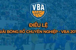 Tóm tắt điều lệ giải bóng rổ chuyên nghiệp Việt Nam - VBA 2019