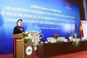 Một số hình ảnh Hội nghị mạng lưới nữ nghị sĩ và Hội nghị ủy ban giáo dục, truyền thông, văn hóa liên minh nghị viện Pháp ngữ