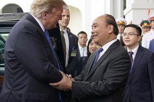 Những hình ảnh Thủ tướng Nguyễn Xuân Phúc hội kiến Tổng thống Mỹ Donald Trump