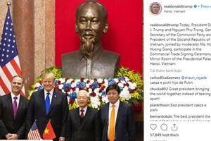Vietjet Air xuất hiện trên Instagram của Tổng thống Donald Trump