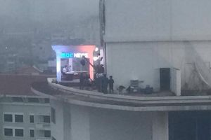 Đài Hàn Quốc MBC dựng trường quay trên nóc khách sạn Daewoo 'gây bão'