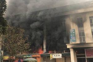 Trung tâm Thương mại Chợ Giầu Bắc Ninh hoang tàn sau cháy lớn