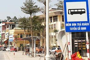 Quảng Ninh: Nguy hiểm các điểm đón trả khách xe buýt, xe khách cạnh nhau
