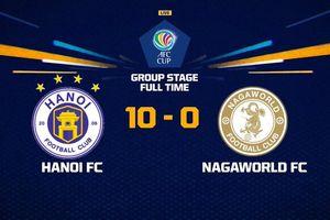 Hà Nội FC phá kỷ lục của giải châu Á với chiến thắng đậm nhất lịch sử