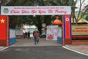 Trường mầm non Việt Triều chỉnh trang, mong chờ Chủ tịch Triều Tiên đến thăm