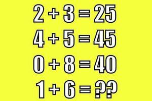 Tính giá trị 1 + 6 khi 2 + 3 = 25