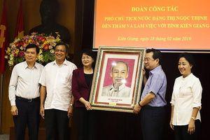 Phó Chủ tịch nước Đặng Thị Ngọc Thịnh làm việc tại Kiên Giang