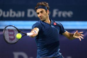 Federer khó khăn vào tứ kết giải Dubai 2019