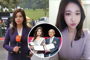 Nữ phóng viên Hàn gây sốt tại Hội nghị Thượng đỉnh Mỹ - Triều từng thi Hoa hậu