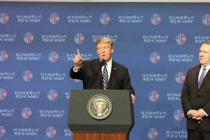 Tổng thống Trump: Khi rời hội nghị với Chủ tịch Kim, bầu không khí 'rất tốt, rất thân thiện'