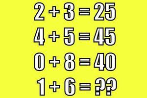 Cách đơn giản tính giá trị 1 + 6 khi 2 + 3 = 25