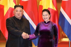 Chủ tịch Quốc hội Nguyễn Thị Kim Ngân hội kiến với Chủ tịch Triều Tiên Kim Jong Un