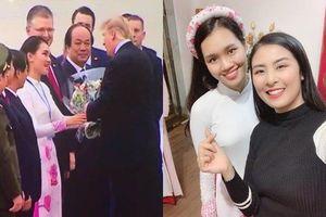 Bí mật thú vị về nữ sinh tặng hoa tiễn Tổng thống Donald Trump qua tiết lộ của HH Ngọc Hân