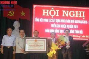 Hà Tĩnh: Đón bằng công nhận xã Thạch Hưng đạt chuẩn Nông thôn mới