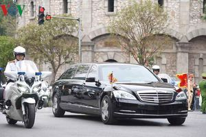 Hình ảnh Chủ tịch Triều Tiên Kim Jong Un rời Hà Nội