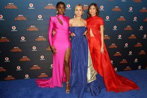 Dàn sao nữ 'Đại úy Marvel' gợi cảm hết nấc trên thảm đỏ ra mắt phim