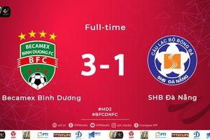 Hạ gục SHB.Đà Nẵng, B.Bình Dương vươn lên đứng thứ 3 V-League 2019