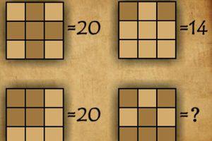 Xác định giá trị của 9 ô vuông nhỏ trong hình vuông lớn