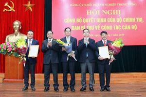 Công bố các quyết định của Bộ Chính trị, Ban Bí thư về công tác cán bộ của Đảng bộ Khối Doanh nghiệp T.Ư