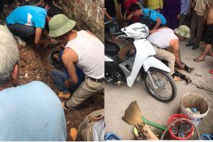 Giải cứu nam thanh niên tự chui vào ống cống nước thải gần 1 ngày