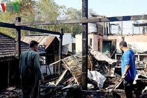 9 căn nhà bị cháy trong đêm ở An Giang