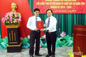 Trao Quyết định chuẩn y Phó Bí thư Đảng ủy Khối các cơ quan tỉnh Nghệ An