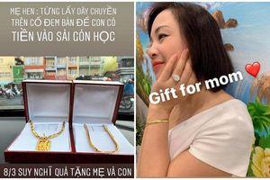Sao Việt mua quà tặng mẹ dịp 8/3: H'Hen Niê mua dây chuyền vàng, Hoàng Hải Thu tậu hẳn nhẫn kim cương 100 triệu