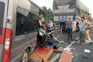 Tai nạn giao thông trên cao tốc Pháp Vân khiến 2 người tử vong