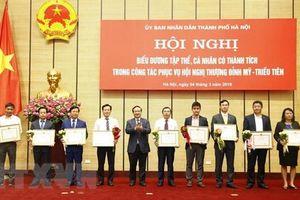 Khen thưởng tập thể, cá nhân có thành tích phục vụ Hội nghị cấp cao Hoa Kỳ - Triều Tiên lần hai