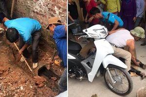 Đào cống giải cứu thanh niên kẹt trong cống thoát nước gần 1 ngày
