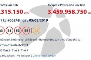 Kết quả xổ số Vietlott 5/3/2019: Số phận giải 'khủng' hơn 66 tỷ ra sao?