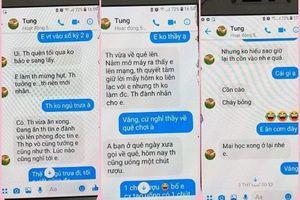 Tạm dừng giảng dạy thầy giáo trường chuyên nhắn tin 'gạ tình' nữ sinh lớp 10