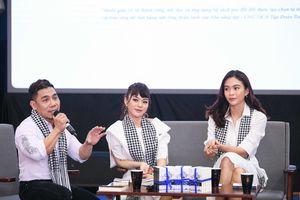 Phạm Văn Mách diện sơ mi trắng cạnh Á hậu Mâu Thủy, ca sĩ Hải Yến Idol