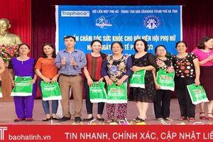 Tư vấn sức khỏe, trao hơn 1.300 phần quà cho phụ nữ TP Hà Tĩnh