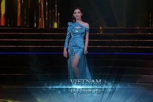 Nhật Hà gây tranh cãi với chiếc váy xanh mướt tại bán kết Miss Int' Queen 2019