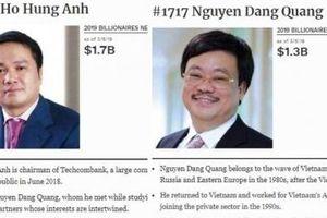 Hai tỷ phú USD mới của Việt Nam lọt danh sách Forbes