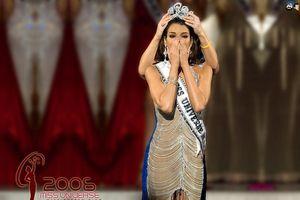 Đối thủ Nhật Hà bị 'ném đá' dữ dội vì mặc váy nhái chiếc đầm kim loại huyền thoại của Hoa hậu Hoàn vũ 2006