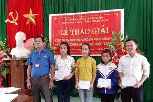 Đảng bộ Trường THPT Quan Sơn 2 tổ chức trao giải cấp cơ sở Cuộc thi tìm hiểu 990 năm Danh xưng Thanh Hóa