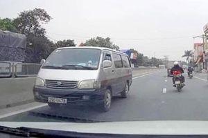 Xử phạt xe ô tô đi ngược chiều qua hình ảnh do nhân dân cung cấp