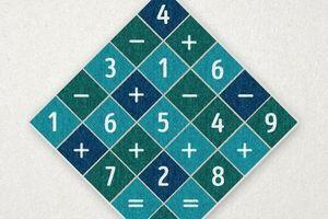Đáp án câu đố tìm phép tính đúng trong bảng số lộn xộn